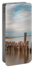 Portable Battery Charger featuring the photograph Beautiful Aging Pilings In Keyport by Gary Slawsky