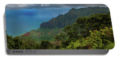 Portable Battery Charger featuring the photograph Beautiful And Illusive Kalalau Valley by John Hight