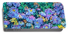 Beautiful Baby Blues - The Flowers Of Spring Portable Battery Charger by Miriam Danar