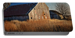 Beautiful Barn In Autumn  Portable Battery Charger