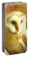 Beautiful Barn Owl Portable Battery Charger by Tina LeCour