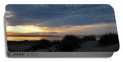 Beautiful Beach San Dunes Sunset And Clouds Portable Battery Charger