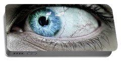 Beautiful Blue Eye Portable Battery Charger