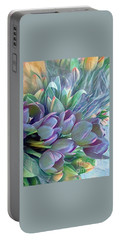 Portable Battery Charger featuring the photograph Beautiful Blues Of Spring - Tulips by Miriam Danar