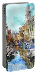 Beautiful Boats In Venice, Italy Portable Battery Charger