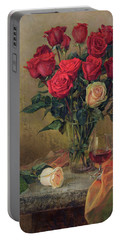Beautiful Bouquet Of Roses Portable Battery Charger