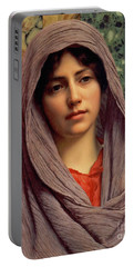 Beautiful Brunette 1918 Portable Battery Charger by Padre Art