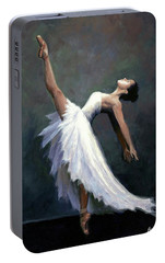 Portable Battery Charger featuring the painting Beautiful Dancer by Janet King