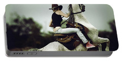 Beautiful Girl Ridingwhite Horse Portable Battery Charger