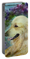 Portable Battery Charger featuring the painting Beautiful Golden by Claire Bull