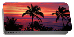Beautiful Hawaiian Sunset Portable Battery Charger by Michael Rucker