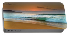 Beautiful Hazy Sunrise Seascape  Portable Battery Charger