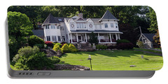 Beautiful Home On Lake Hopatcong Portable Battery Charger by Maureen E Ritter