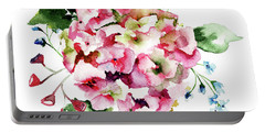Beautiful Hydrangea Flowers Portable Battery Charger
