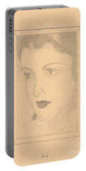 Beautiful Lady Face Portable Battery Charger