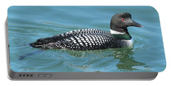 Portable Battery Charger featuring the photograph Beautiful Loon by Debbie Stahre