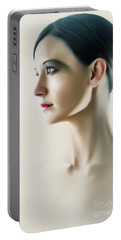 Portable Battery Charger featuring the photograph Beautiful Model Highkey Fashion Studio Portrait by Dimitar Hristov
