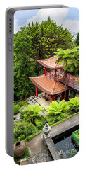 Beautiful Pagoda In Tropical Garden Portable Battery Charger