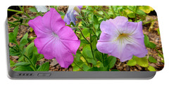 Beautiful Petunia Flower 2 Portable Battery Charger
