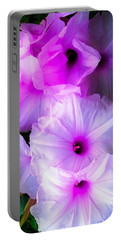 Beautiful Petunias Portable Battery Charger