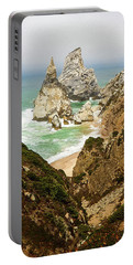 Beautiful Praia Da Ursa In Portugal Portable Battery Charger