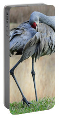 Beautiful Preening Sandhill Crane Portable Battery Charger