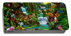 Beautiful Rainforest Portable Battery Charger by Gerald Newton