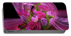 Beautiful Rose Bouquet Montage Portable Battery Charger
