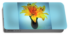 Portable Battery Charger featuring the photograph Beautiful Royal Lilies  by Ray Shrewsberry