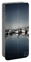 Beautiful Sailboats In The Harbor Portable Battery Charger