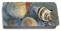 Beautiful Shells In The Surf Portable Battery Charger by D Hackett