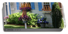 Beautiful Ship Flower Boxes 2 Portable Battery Charger by Living Color Photography Lorraine Lynch