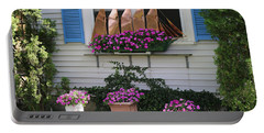Beautiful Ship Flower Boxes Portable Battery Charger by Living Color Photography Lorraine Lynch