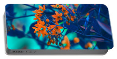 Portable Battery Charger featuring the photograph Beautiful Solanum Septemiobum Flowers  by Lance Sheridan-Peel