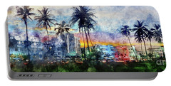 Beautiful South Beach Watercolor Portable Battery Charger