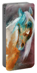 Portable Battery Charger featuring the painting Beautiful Spirit by Barbie Batson
