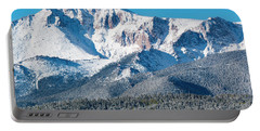 Beautiful Spring Snow On Pikes Peak Colorado Portable Battery Charger