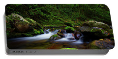Beautiful Stream In Tremont Smoky Mountains Tennessee Portable Battery Charger
