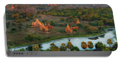 Beautiful Sunrise In Bagan Portable Battery Charger