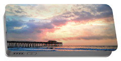Beautiful Sunrise In Myrtle Beach South Carolina Usa Portable Battery Charger by Vizual Studio