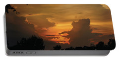 Beautiful Sunset Portable Battery Charger by Debra Crank