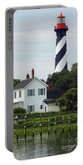 Beautiful Waterfront Lighthouse Portable Battery Charger by D Hackett
