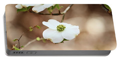 Beautiful White Flowering Dogwood Blossoms Portable Battery Charger