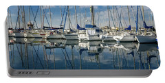 Beautiful Yachts Moored In The Marina Portable Battery Charger