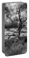 Beautifully Dead In Black And White Portable Battery Charger