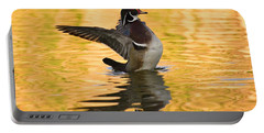 Wood Duck Sunset  Portable Battery Charger