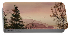 Portable Battery Charger featuring the painting Beauty At The Shore by James Williamson
