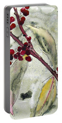 Beauty Berry Branch Portable Battery Charger by Dawn Derman