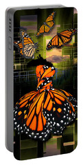 Portable Battery Charger featuring the mixed media Beauty In All Things by Marvin Blaine