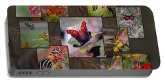 Beauty In Butterflies Portable Battery Charger by DigiArt Diaries by Vicky B Fuller